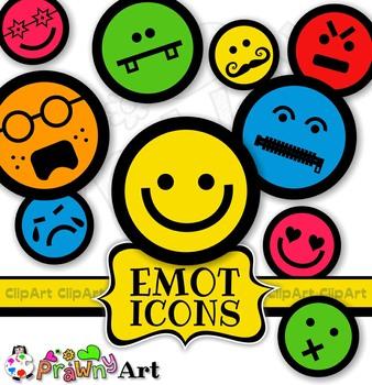 Smiling Face Emoticons Emoji Clip Art Mega Pack.