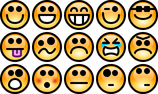 Emotional faces clipart » Clipart Station.