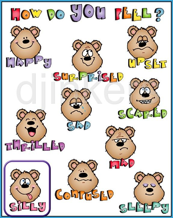 how do you feel chart, emotion clip art, cute clip art, school clip.