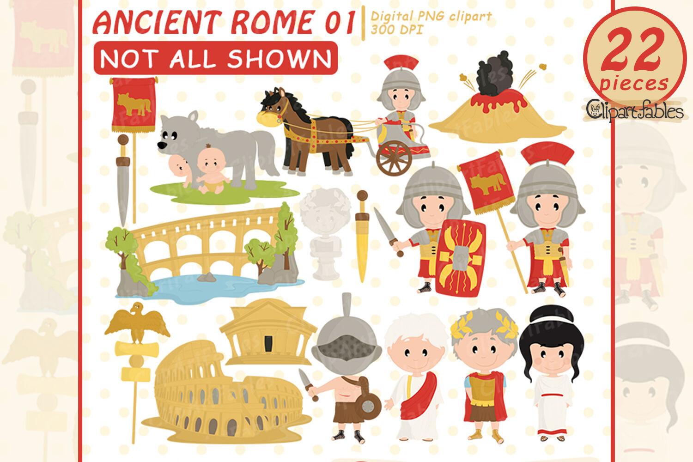 Ancient Rome clipart, Travel clip art, Roman empire art By.