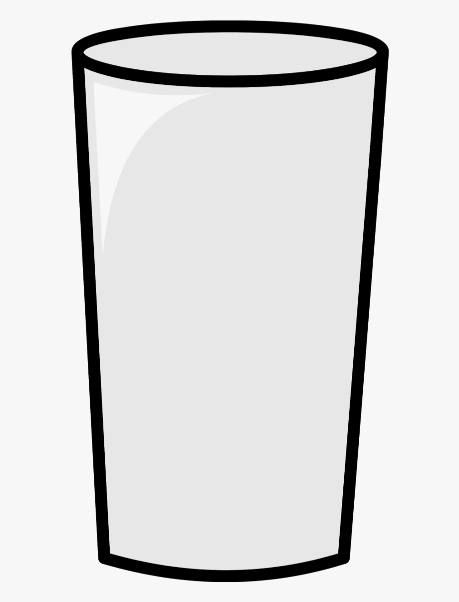 Clipart Of Glass, Empty And Empty Water Bottle.