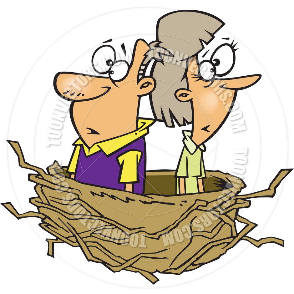 Empty Nest Syndrome Clipart.