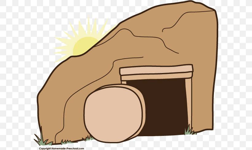 Empty Tomb Tomb Of Jesus Easter Clip Art, PNG, 602x489px.