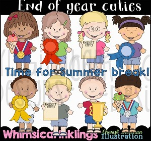 End of Year Cuties Clipart Collection.