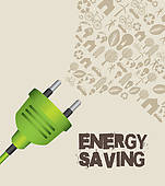 Energy Saving Clip Art.