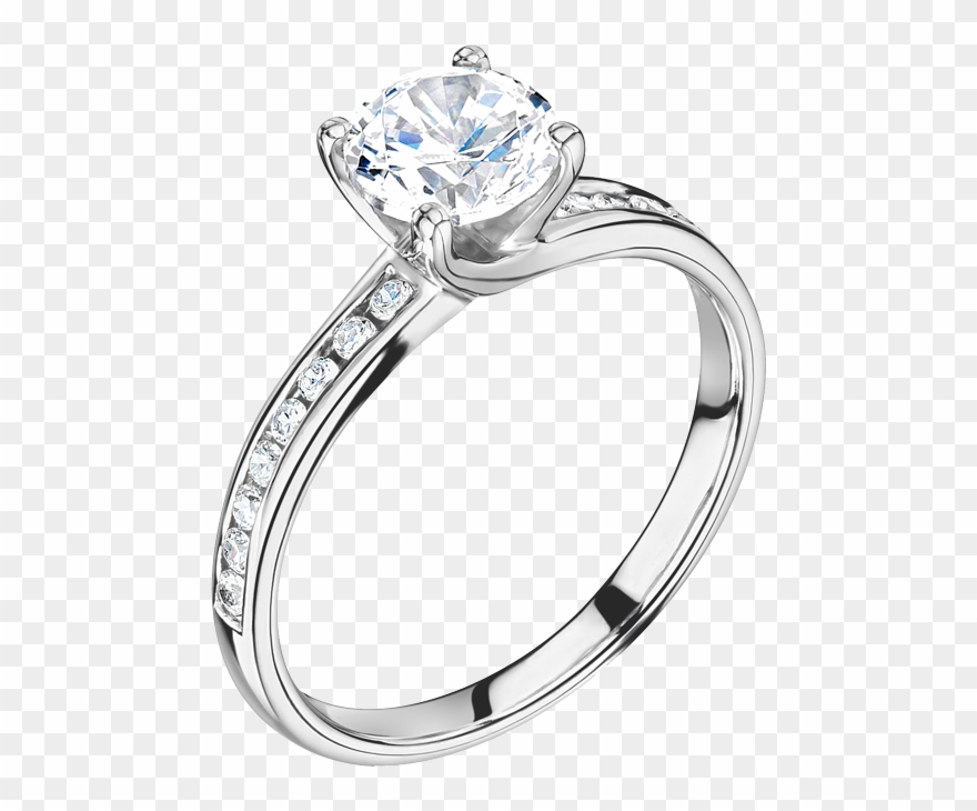 Solitaire Engagement Rings Clipart (#3105601).