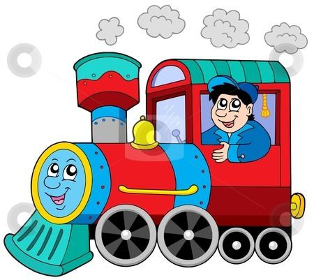 Cartoon Train Engine.