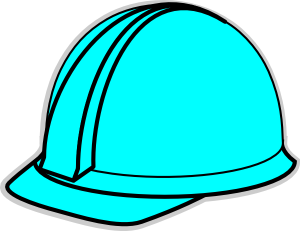 Turquoise Hard Hat Clip Art at Clker.com.