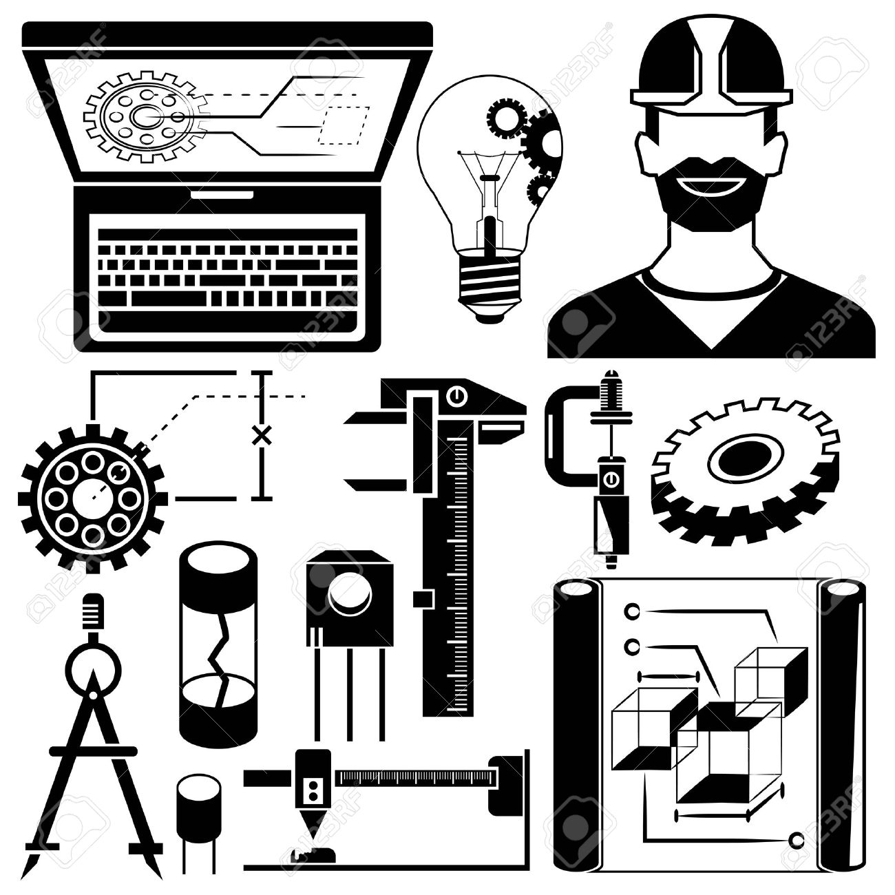 103,382 Engineering Icons Stock Vector Illustration And Royalty.