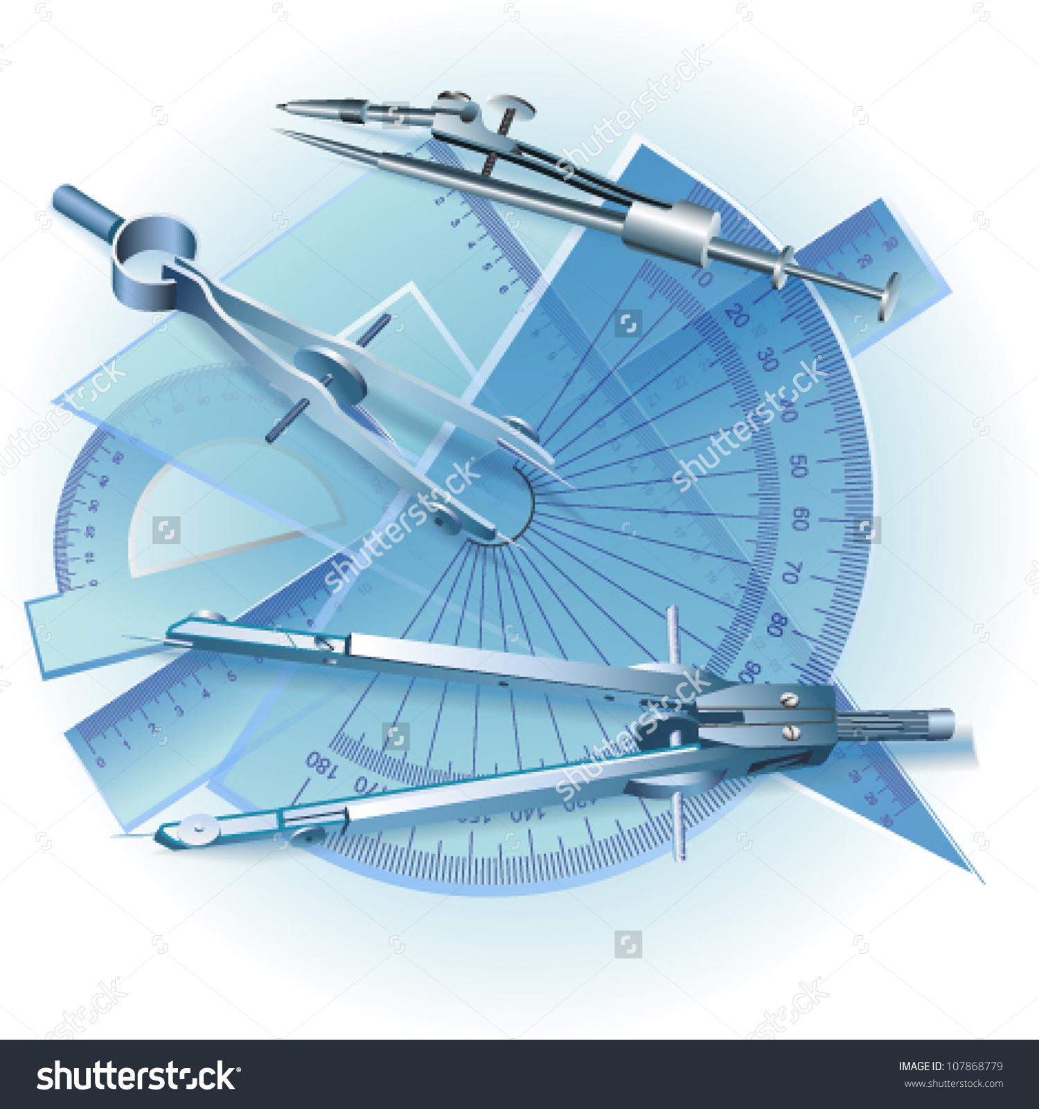 Set Drawing Tools Engineering Symbol Vector Stock Vector 107868779.