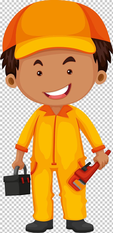 Job Profession Illustration, Handheld toolbox for vehicle.