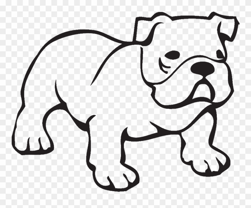 Bulldog Outline Clipart.
