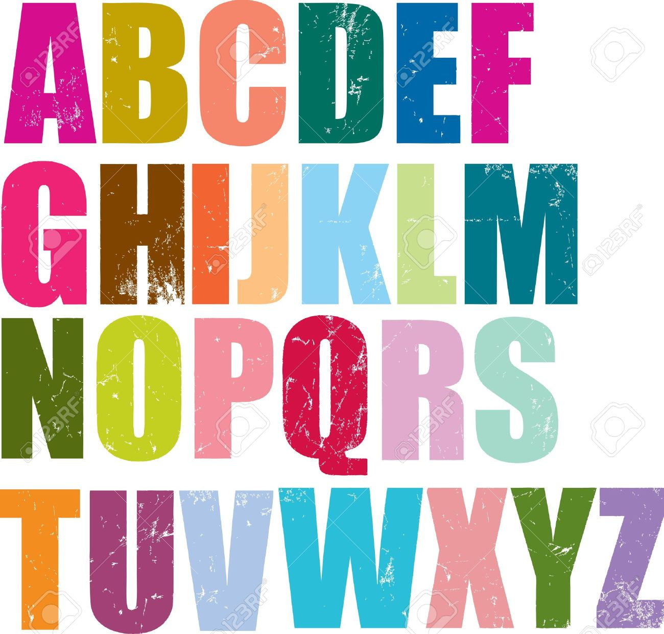 Individual Letterpress Letters Of The Whole English Alphabet.
