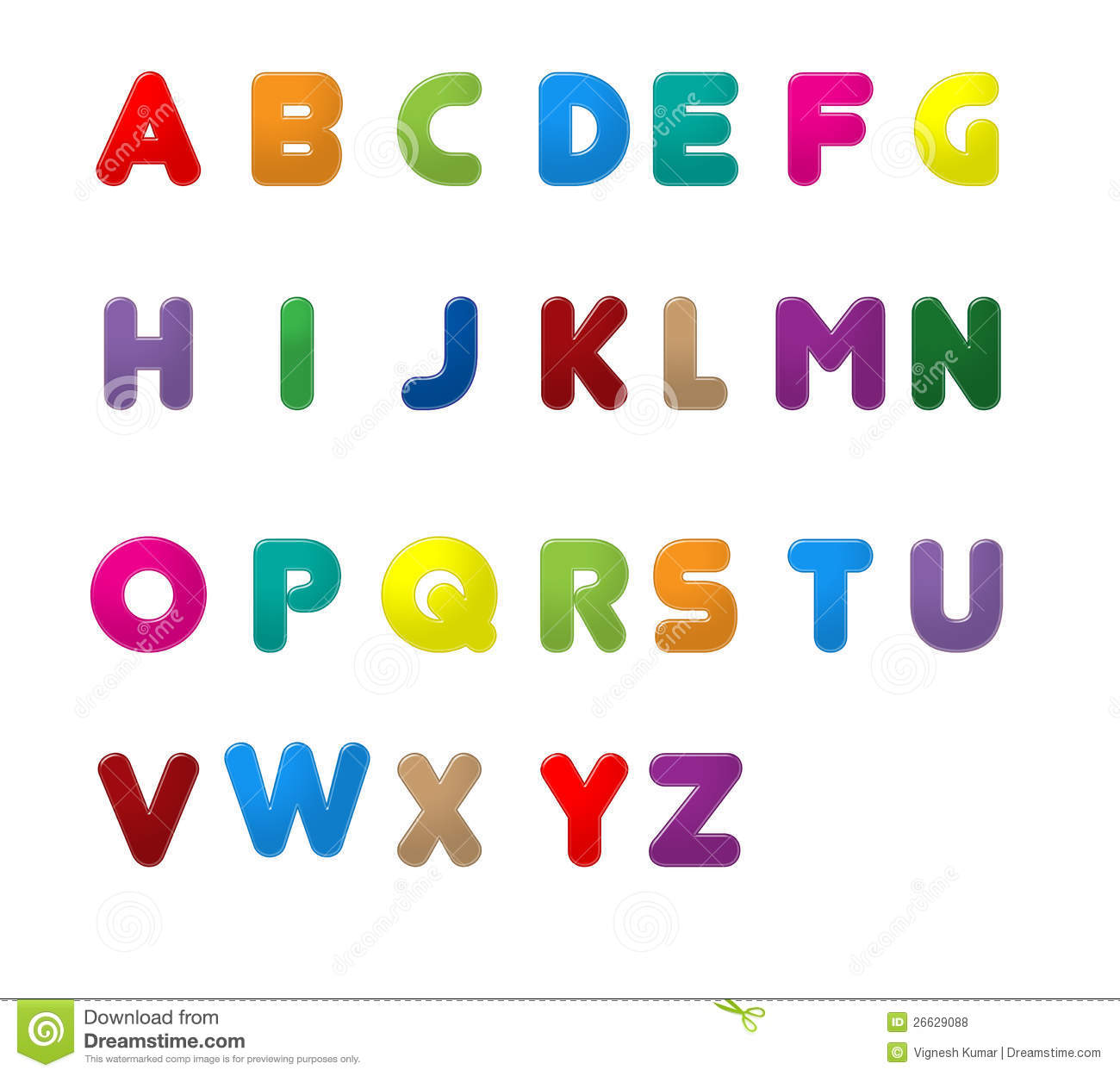 ENGLISH LETTERS A TO Z Royalty Free Stock Photos.