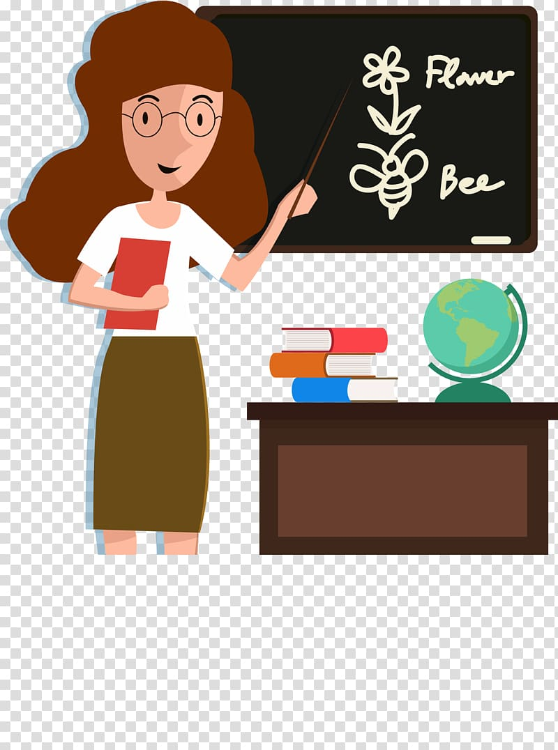 Student Teacher Classroom Cartoon, English teacher.