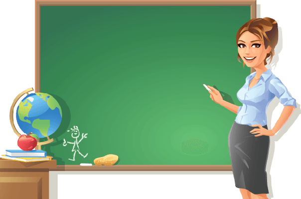English Teacher Clipart Female.