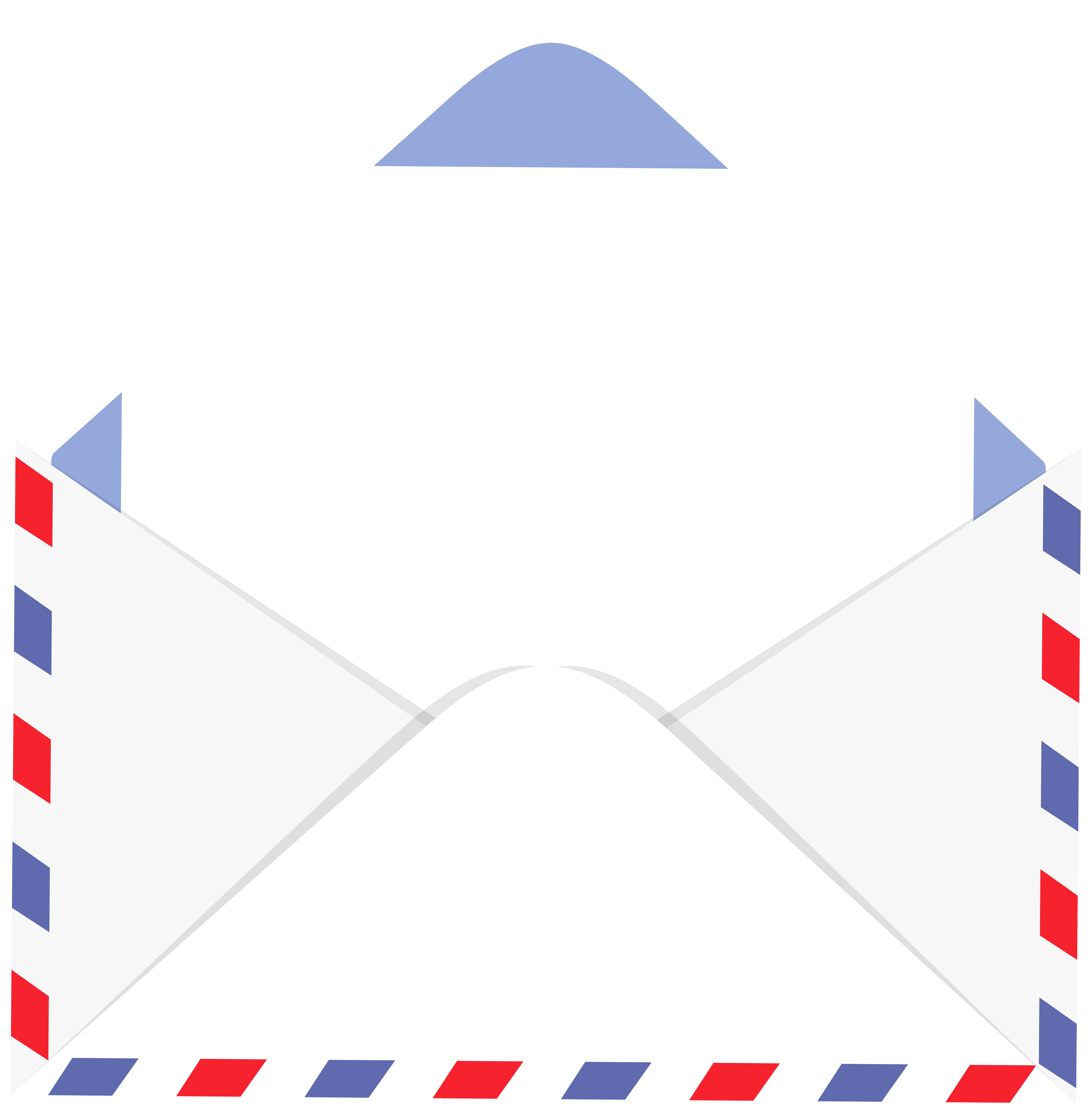 Envelope with Letter PNG Clip Art Image.