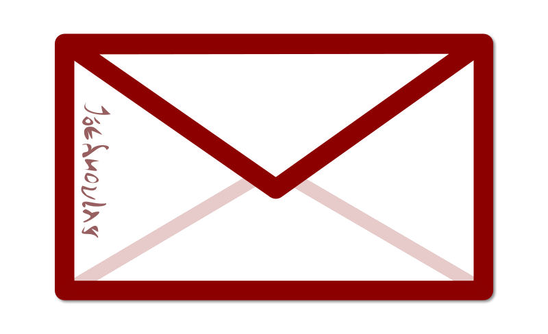 Free Clipart: Envelope with some alien writing.