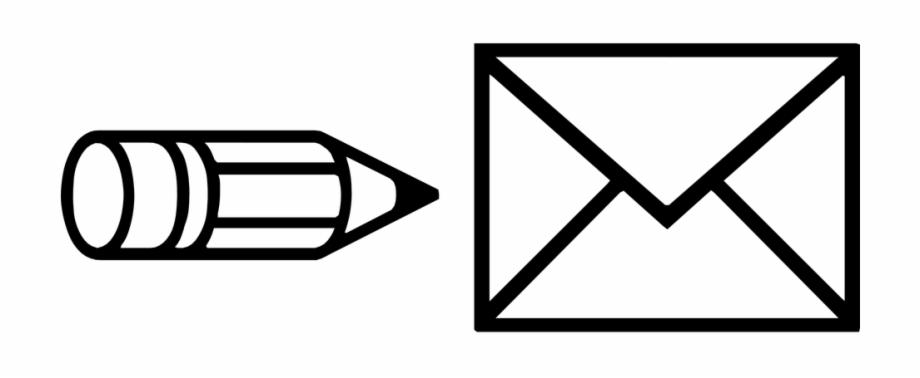 Write Envelope Icon Edit Pen Text Letter Email.