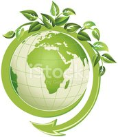Environmental Awareness Illustration Africa & Europe on.