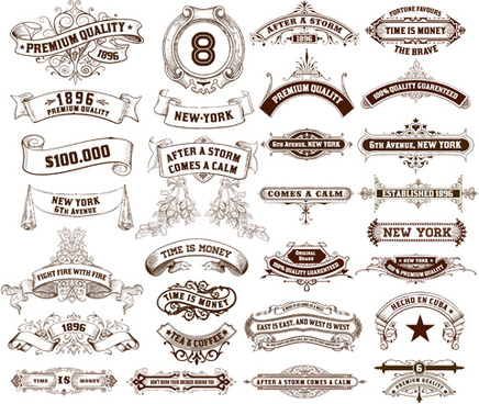 Vintage ribbon eps free vector download (189,211 Free vector.