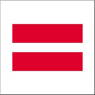 Clip Art: Math Symbols: Equals Sign Color I abcteach.com.