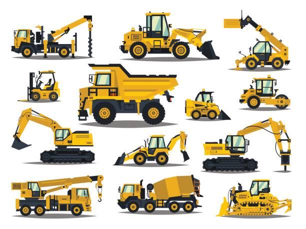 Best Heavy Equipment Illustrations, Royalty.
