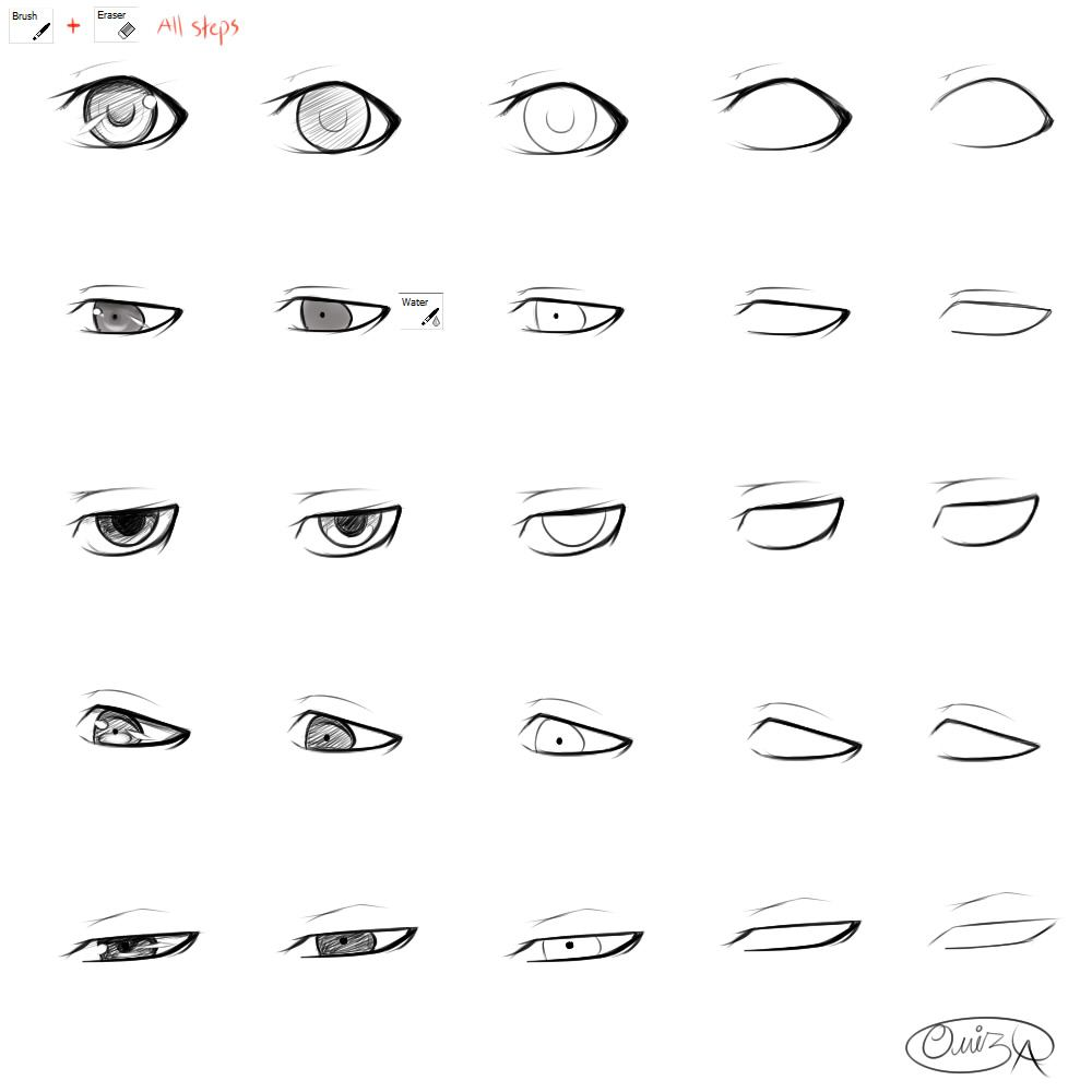How To Draw Eyes For A Girl.