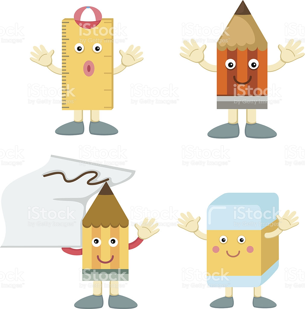Pencil With Eraser stock vector art 496195425.