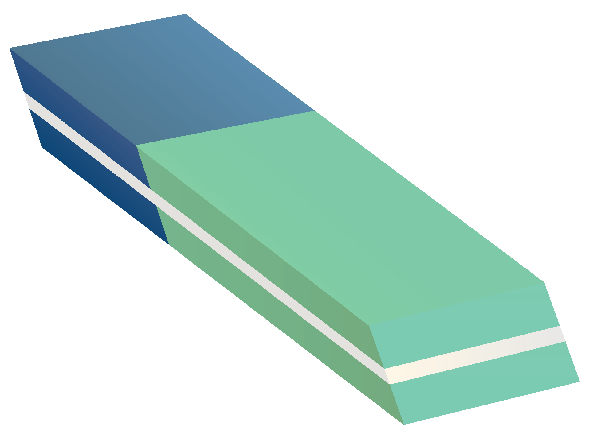 Blue Green Eraser Clipart transparent PNG.