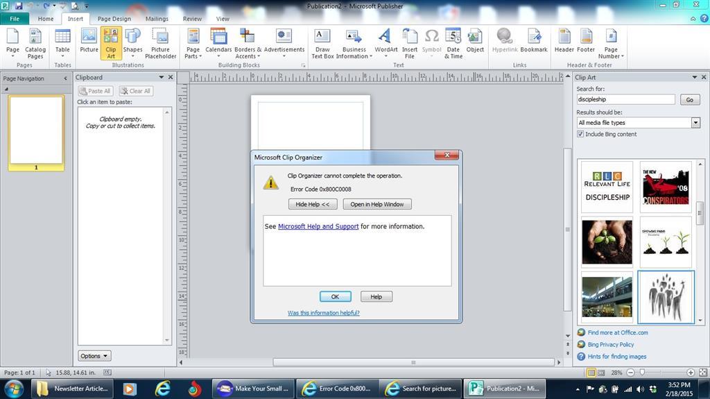 Error Code 0x800C0008 Needs Fix.