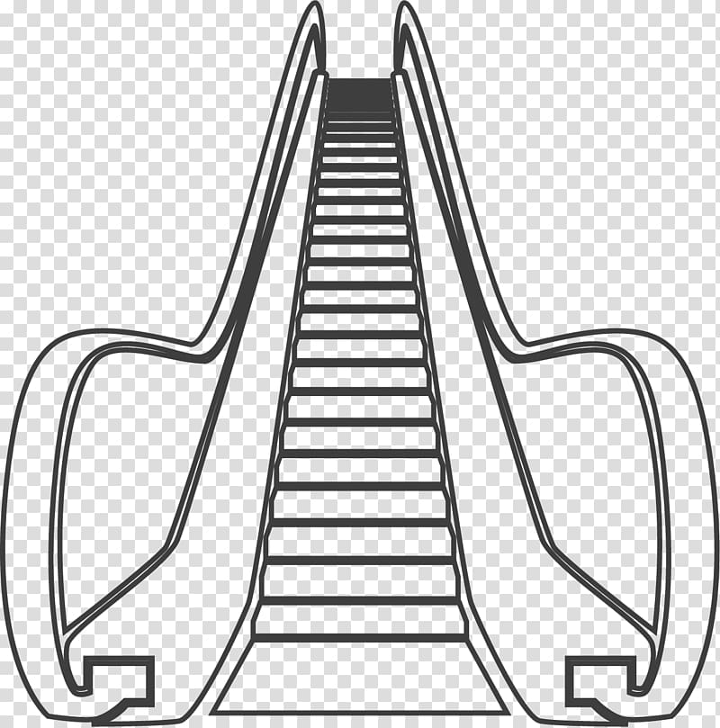 Escalator Elevator Icon, Public place escalator transparent.