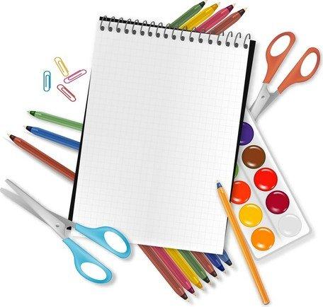 Imágenes clip art y gráficos vectoriales Útiles escolares 04.