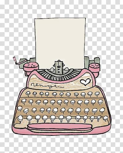 Maquinas de escribir, beige and pink typewriter and printer.