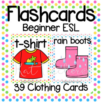 Beginner English Clothes & Clothing Flashcards for ESL Students & Young  Learners.