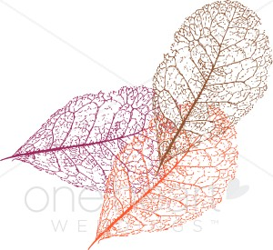 Etched Leaves Clipart.