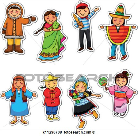Ethnic People Clipart.