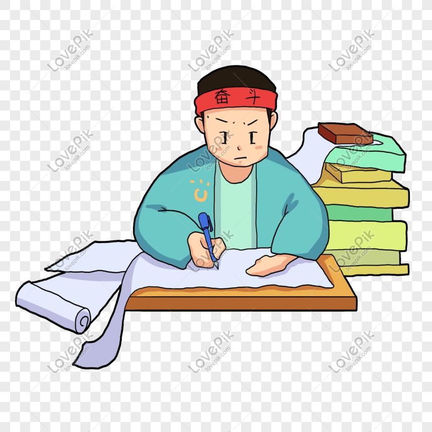 Photo de sérieusement étudier illustration de dessin animé.