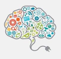 Étudier Le Concept DE Cerveau Stock Vector.