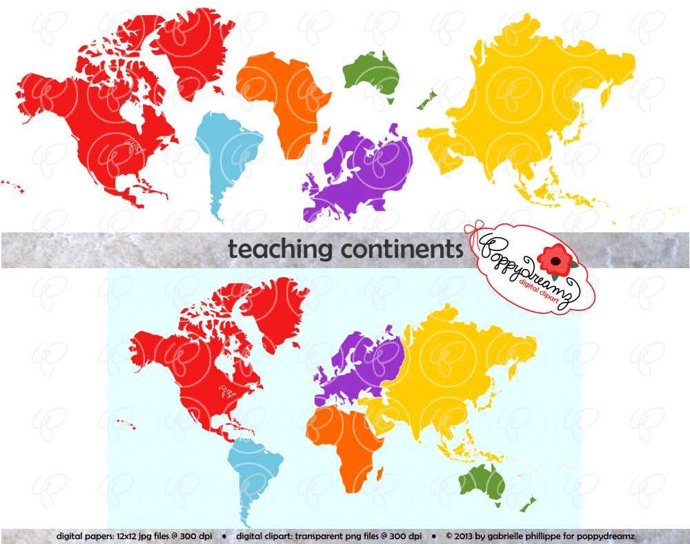 Asia Continent Clip Art.
