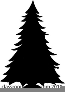 Clipart Evergreen Tree Silhouette.