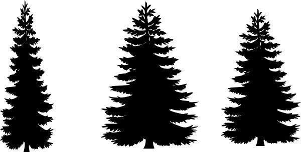Pine Tree Silhouette Images at GetDrawings.com.