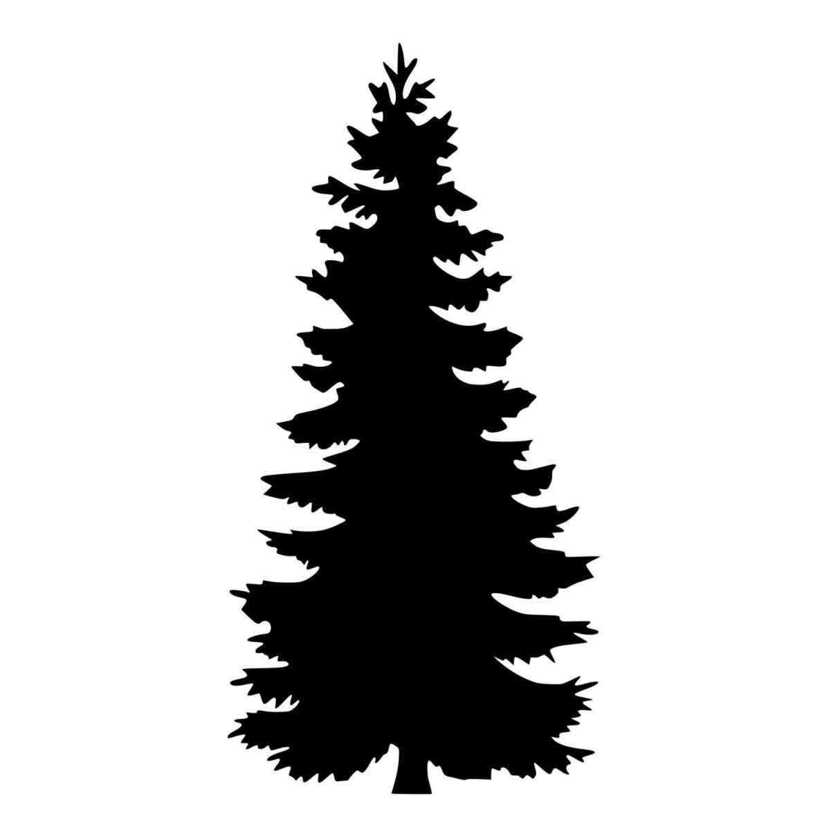 Evergreen Tree Silhouette.