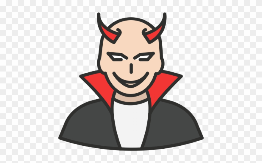 Satanism Clipart Evil Person.