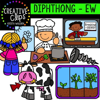 Diphthong Clipart: EW {Creative Clips Digital Clipart}.