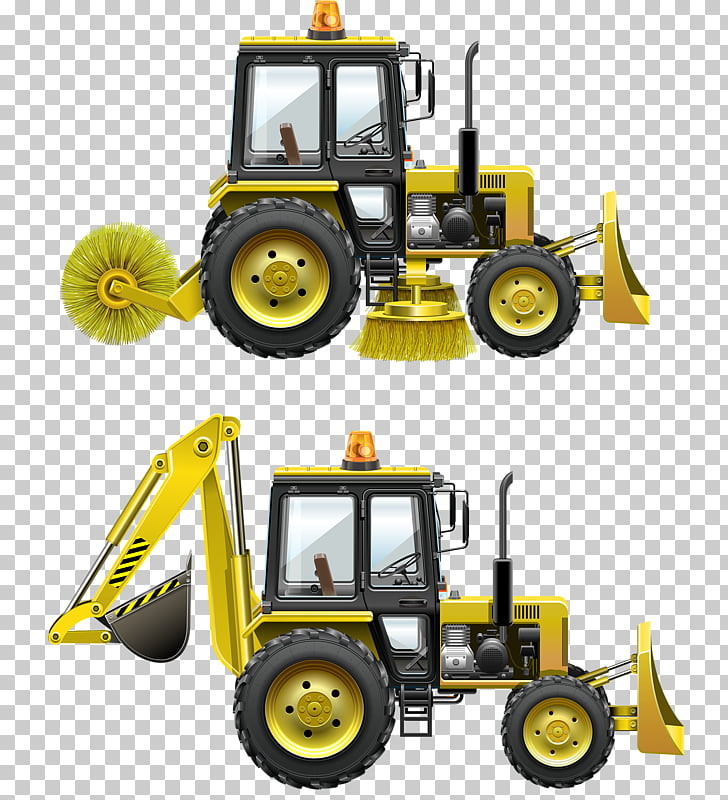 Car Excavator, Bulldozers and excavators PNG clipart.