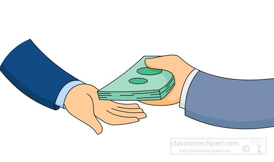 Money Exchanging Hands Clipart.