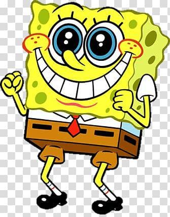 SpongeBob SquarePants , Spongebob Excited transparent background PNG.