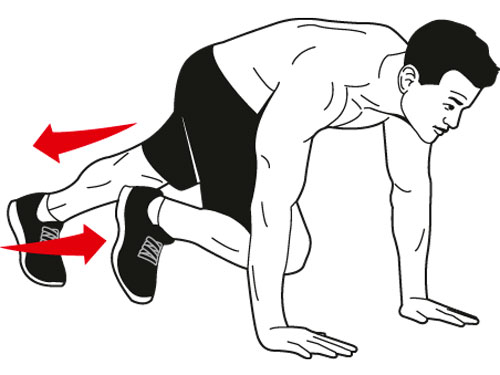Mountain Climbers Exercise Clipart.