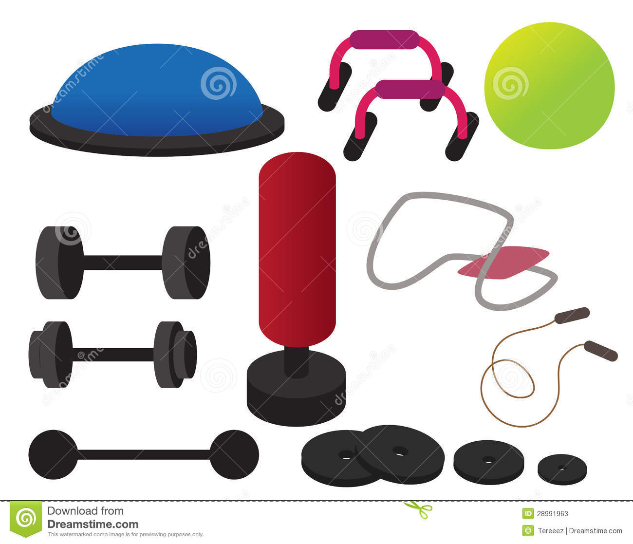 Workout Equipment Clipart.